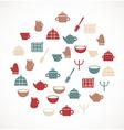 Kitchen symbols vector image vector image