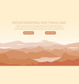 landscape with mountain peaks vector image vector image