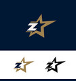 letter z logo template with star design element vector image vector image