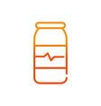 medical bottle sport gym fitness gradient line vector image