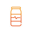 medical bottle sport gym fitness gradient line vector image vector image