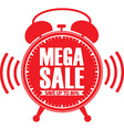 Mega sale red alarm clock vector image vector image