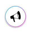megaphone icon isolated on white background vector image vector image