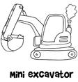 Mini excavator of art vector image