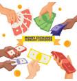 money stack dollar or currency exchange cash vector image vector image