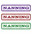 nanning watermark stamp vector image vector image
