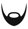 oval beard icon simple style vector image