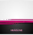 pink and black hi-tech abstract corporate vector image vector image
