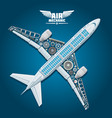poster of aircraft mechanic details vector image vector image