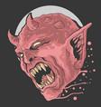 red devil scream vector image