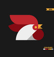 rooster circular logo vector image