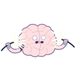Shocked brain flat Train your brain vector image vector image