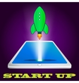 start up rocket icon Project development vector image