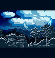 thunderstorm forest vector image vector image