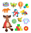 toys for children at christmas vector image vector image