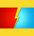 versus superhero fight comic pop art retro battle vector image
