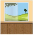 wall windows vector image