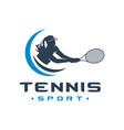 womens tennis sports logo vector image