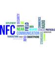 word cloud nfc vector image vector image