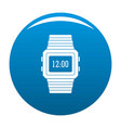 wristwatch icon blue vector image vector image