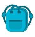 blue bag school pupil vector image