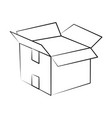 delivery box open vector image