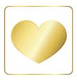 Gold heart metal vector image