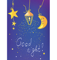Good night banner and card vector image