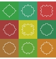 Set of Elegant White Line Frames on vector image