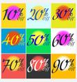 set of sticker sale template vector image
