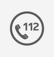 112 emergency call icon for web and mobile app vector image
