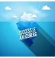 3d iceberg concept Success vector image vector image