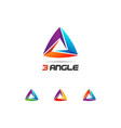abstract colorful looping triangle logo sign vector image vector image