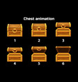 animation step by step open and closed wooden vector image