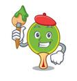 artist ping pong racket character cartoon vector image