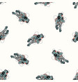 astronaut in spacesuit seamless pattern cosmonaut vector image