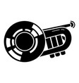 bass trumpet icon simple style vector image vector image