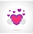 Be my Valentine icon flat bright color vector image