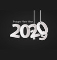 black happy new year 2020 concept vector image
