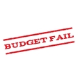 Budget Fail Watermark Stamp vector image vector image