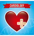 cardiology design vector image vector image