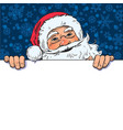 cartoon santa claus holding blank empty board vector image vector image