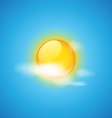 Cloud and sun weather icon vector image