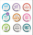 collection colorful modern badges and labels 2 vector image vector image
