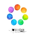 Colorful set isolated watercolor paint vector image vector image