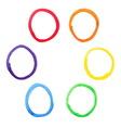 Colorful watercolor circles set vector image