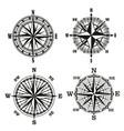 compass dials vintage navigation elements vector image vector image