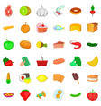 cookie icons set cartoon style vector image vector image