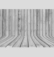 curved wood display background vector image vector image