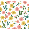 cute floral seamless pattern background vector image